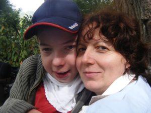 Klára Fischerová se synem Vojtou