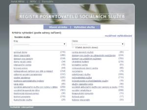 Obrazovka pro zjednodušené vyhledávání v iRegistru