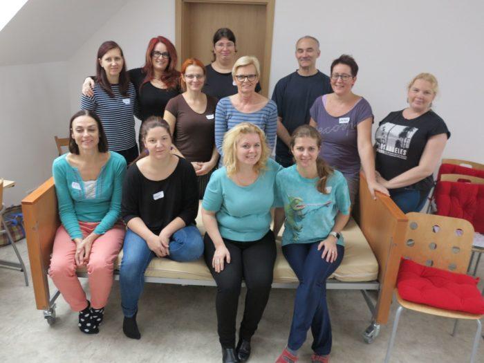 Závěrečné společné foto účastníků kurzu kinestetické mobilizace