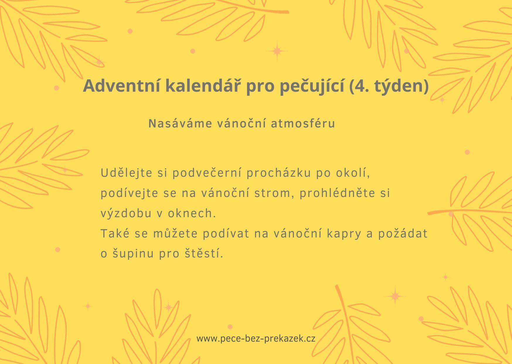 Adventní kalendář pro pečující (4. týden)